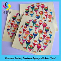 Wholesale Waterproof Vinyl Custom Stickers Custom Waterproof Transparent Self Adhesive Circle Sticker Label Custom Clear Vinyl Logio Lab