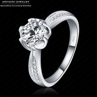 b brilliant ring - S925 Fine Brilliant Rings for Women Wedding Jewelry Cubic Zirconia Inlayed Engagement Rings Bijoux Women Bagues BRI0134 B