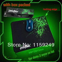 Wholesale With Box Packed raze goliathus gaming mouse pad mm locking edge mouse mat speed version for sc2 wow dota lol cs