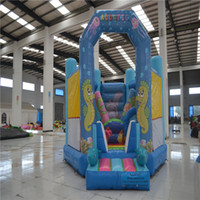 jump in - AOQI giant bounce house bouncy castle inflatable bouncer jumping house inflatable trapaulin toys for kids make in China