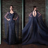 Wholesale Rami Kadi Sequined Evening Dresses For Dubai Arabic Saudi Arabian Womens Ladies Special Occasions Cheap Custom Made Backless Vestidos
