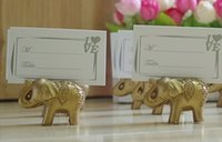Wholesale Lucky Golden Elephant Place Holders card Wedding table decoration Party Supplies favors gifts for Bridal Shower