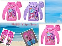 Wholesale 18 OFF Free Gift DROP SHIPPING my little pony girls spring and autumn children sweater girls cotton hoodie jacket TM