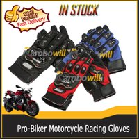 Wholesale Pair Pro Biker Motorcycle Racing Gloves Armored Motocross Motorbike Bicycle Sport Dirt Bike Cycling Black Riding Ourdoor Protective M L XL