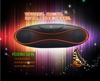 Wholesale New Handsfree Bluetooth Portable Mini Speaker Wireless Loudspeakers Music Speakers Sound Box with Leather Case DHL ship