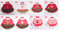 Wholesale 12Styles Baby Rompers Headband Set Christmas Santa Infant Long Sleeve Tutu Dress Rompers Newborn Baby Xmas New Year Clothes