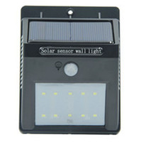 Cheap Led Solar Sensor Light Outdoor IP65 Waterproof 10 Leds Wall Lamp Solar Powered Panel Energy Saving PIR Motion Senser Garden