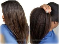 malaysian virgin hair lace wig - 2016 Direct Yaki Straight Brazilian Virgin Human hair Lace Front Wigs Full Lace Wigs Human Hair Wigs for Black Women with baby hair