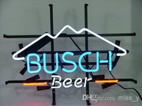 beer sign - BUDWEISER NEW BUSCH BEER BAR PUB NEON LIGHT SIGN