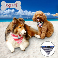 anchor dog collar - Anchor Stripe Cotton Dog Puppy Bandana Pet Collar Scarf sizes