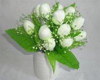 Wholesale Fake Tulip Bush cm quot Length Artificial Silk Tulips Stems Per Bunch Colors Available for Wedding Flower