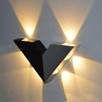 Wholesale Aluminum Modern Wall Sconce Triangle V shape w LED wall light decoration warm white Home lighting AC95 V Wall mounted