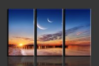 beach decor - 3 Panels Sun Beach HD Canvas Print Painting Artwork Modern Home Wall Decor painting Canvas Art HD Picture Paint on Canvas Prints
