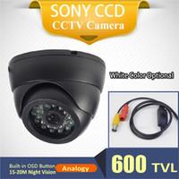 Cheap 600TVL 600tvl sony Dome amera Best Default black(white for Option) 15-20M Sony CCD Dome Camera