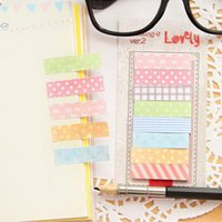 Wholesale 3 Cute Kawaii Pages Sticker Post It Bookmark Point It Marker Memo Flags Sticky Notes Scrapbooking Sticker Paper