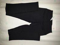 black pants - Women LULUTEMAN Wunder Unders Yoga Crops Yoga Pants Black Yoga Leggins capri Gym Pants Workout Pants SIZE