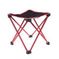 Wholesale High Quality Outdoor Aluminum Portable Foldable Folding Fishing Chair Tool Square Camping Stool Size L