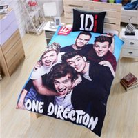 Wholesale 12sets UK Famous One Direction Bedding New Soft Duvet Cover One Direction Bed Set Single Doubel Queen Size