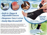 ankle sprain brace - Ankle Genie Sport Support Zip Up Compression Brace Sprain Sleeve Protective Ankle Brace Neoprene And Nylon Material DHL Free