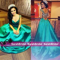 beauty arabic - 2015 Emerald Green Prom Pageant Dresses For Girls Beauty Queen Women Sale Cheap Arabic Celebrity Wedding Evening Ball Gown Formal Wear