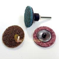 Wholesale 60 pieces quot M Coarse to Fine Scotch Brite Roloc Sanding Disc Nylon Scour Pad Neiko Air Grinder Tools