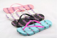 Wholesale 2016 New Women Flip Flops Shoes T Beach Thongs Flats Slippers Home Slipper House Slipper Casual Slipper Floral Print Candy Color