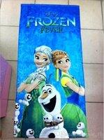 beah towels - 2015 color CM kid Unisex cotton printed Frozen fever beah towels bathing towel elsa Shower Gym Fitness Camping Towel TOPB3571