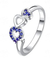 Wholesale gift rings for women men New Fashion Silver plated Ring Jewelry Rings