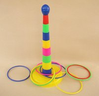 Wholesale Happiness circle sets outside sport parent child layers rainbow tower educational toys