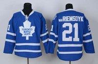 Wholesale James Van Riemsdyk Blue Ice Hockey Jerseys Name Number Stitched High Quality Mens Hockey Wears Lupul Kessel Clark Jerseys