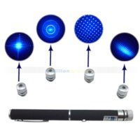 beam ray for sale - Hot Sale in15mW Blue Ray Beam Laser Pointer Pen Flashlight with Five Heads Starry Sky Caps for Presentor
