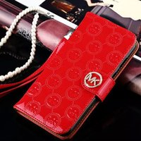 apple cover chain - Fashion Patent Wallet PU Leather Rhinestone Diamonds Ponch Luxury Case Covers with Chain Card Slots for iPhone S Plus S Plus