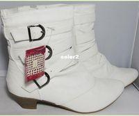 Wholesale 2014 fashion bowtie white winter women ankle boots martin boot lady leather shoes botas femininas botas de neve