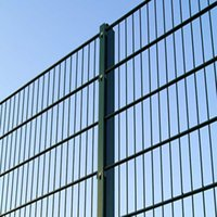 Wholesale 7 Double Weft Wire Mesh Fence Black Color