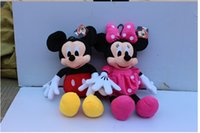 mickey mouse plush toy - 2015 Hot sale CM new ONE American Lovely Mickey Mouse Or Minnie Mouse Stuffed animals plush Toy xs019
