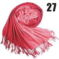 Wholesale 170 cm Double color scarf gradient Cashmere scarf pashmina scarves shawls Ponchos wraps silk scarf colors