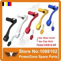 Wholesale Dirt Pit Bike Aluminum Alloy Gear Shifter Lever With Fuel Gas Cap Vent Fit KAYO PIT PRO IRBIS ABM CRF KLX TTR order lt no trac