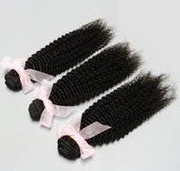Cheap Popular Hair!Unprocessed Brazilian Peruvian Malaysian Indian Virgin Hair 3pcs Kinky Curly Human Hair Extensions Hair Weave 6A