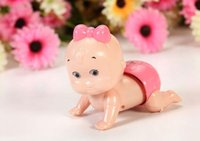 Wholesale Cartoon Cute Baby Crawling Doll Toy Clockwork Wind up Toys Pieces