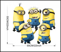 Wholesale Cartoon Despicable Me Minion Wall Stickers Home Decor Removable Decals Wall Art Sticker For Kids Bedroom Room Party Decoration Factory
