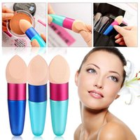 Wholesale Foundation Complexion Sponge Blender Blending Cosmetic Puff Flawless Smooth Shaped Bullet Powder Puff Beauty Egg Makeup Tool