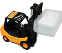 Wholesale 2015 NEW Desktop Crane Remote control cars REMOTE CONTROL MINI FORKLIFT RC Truck children gift adult toy