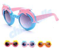 Wholesale Summer UV cartoon dolphin kid sunglasses child glasses outdoor children beach glasses eyewear fashion beach sunblock accessories