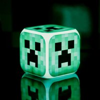 Wholesale Minecraft Alarm Clock Creeper Clock with LED Multifunction Night Light Electronic Alarm Clock Toys Retail Creative Christmas Gift
