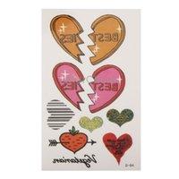 beautiful heart tattoos - Beautiful Heart Pattern Temporary Tattoo Stick