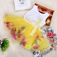 little girls beautiful dresses - 2015 babies clothes party dresses for little girl sleeveless kids sundress rose flower tutu dress child beautiful dress Newborn clothes