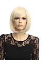 kanekalon wigs - Sexy Glamorours Fashion Short Stright Golden Hair Wigs Kanekalon Fiber Synthetic Lady Hair wigs H9236Z