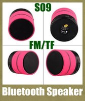home speakers - S09 speakers subwoofer mini bluetooth speaker wireless audio speaker for outdoor home usb amplifier with handfree function fm radio MIS041