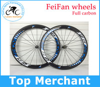 racing bicycle - Original FEIFAN full carbon Road bike wheels mm rim clincher Tubular road bike bicycle wheelset racing wheels novatec straight pull hubs