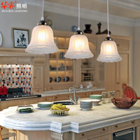 antique lamp cord - Romantic European Style Rural Led Pendant Light Antique Glass Flower Dining Room Lighting Fashion Bar Lamps Indoor Lighting Fixture